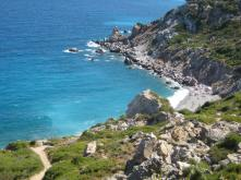 View from Old Kastro down to Kastro Beach