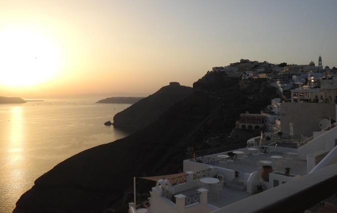 Sunset from the Caldera- Fira