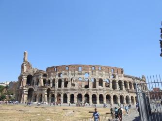 External facade of the Colosseum