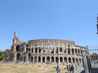 External facade of the Colosseum