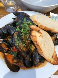 Local Black Mussels in tomato sauce