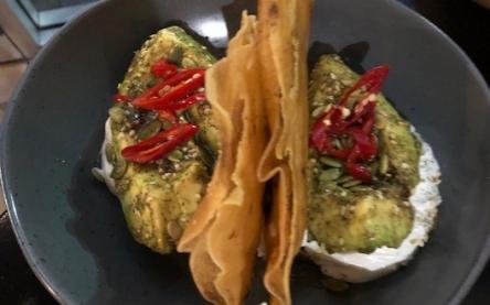 Avocado and Zaatar Labneh